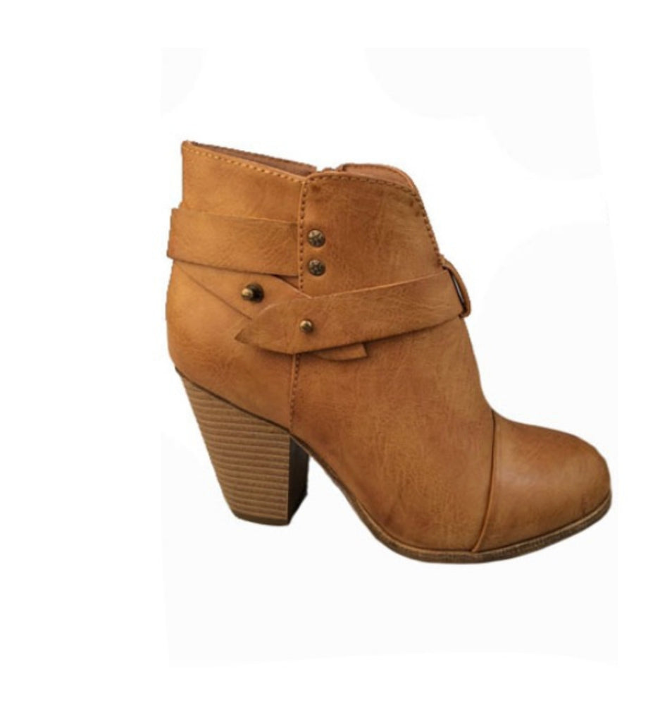 SALE!! Tan Booties- LAST ONE Size 10