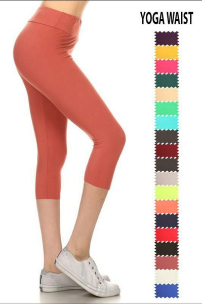 SALE!! Solid Capri Leggings MISSES