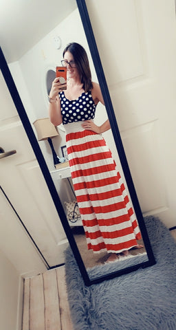 SALE!! American flag maxi-last one size Large