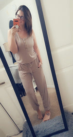 Load image into Gallery viewer, Mocha Latte Jumpsuit