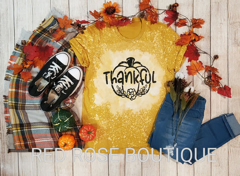 Thankful Bleached Graphic Tee