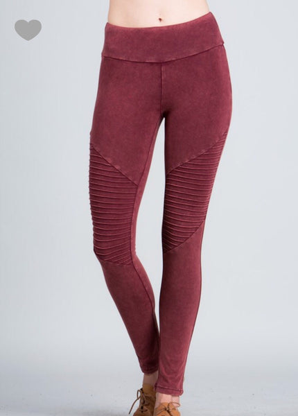 SALE!! Washed Out Moto leggings