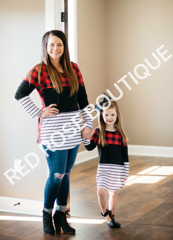 SALE!! Plaid color block tunic