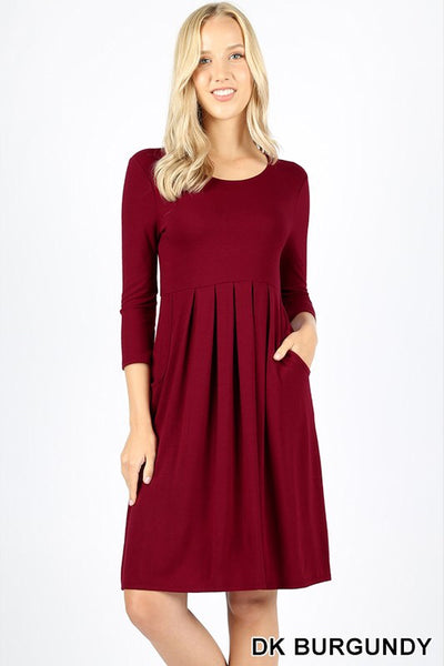 SALE!! Pleated waist dress