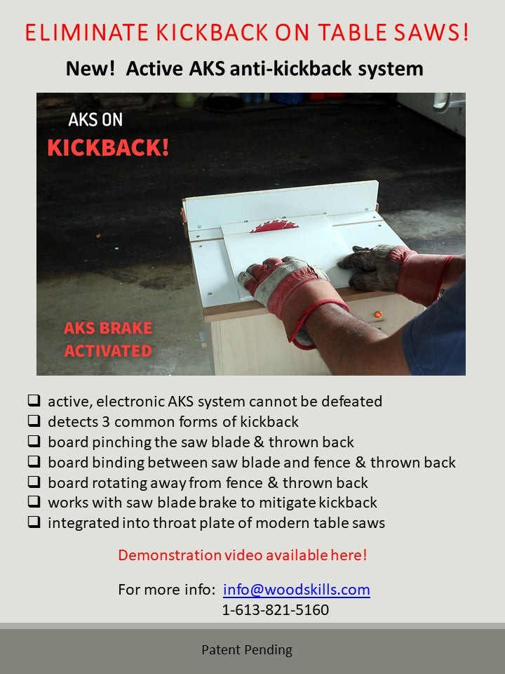Anti-Kickback for Table Saws