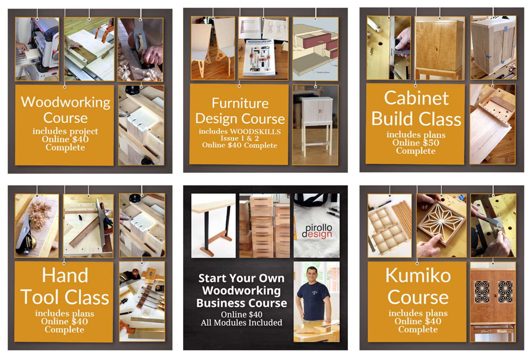 Online Virtual Woodworking Classes