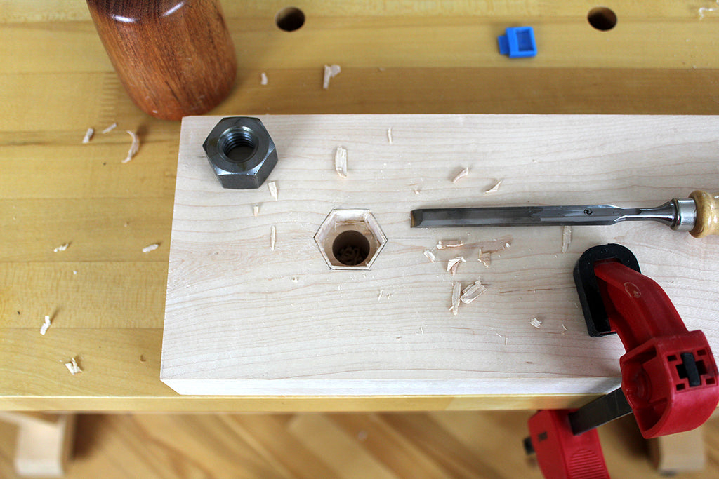 Moxon vise captive nut mortise
