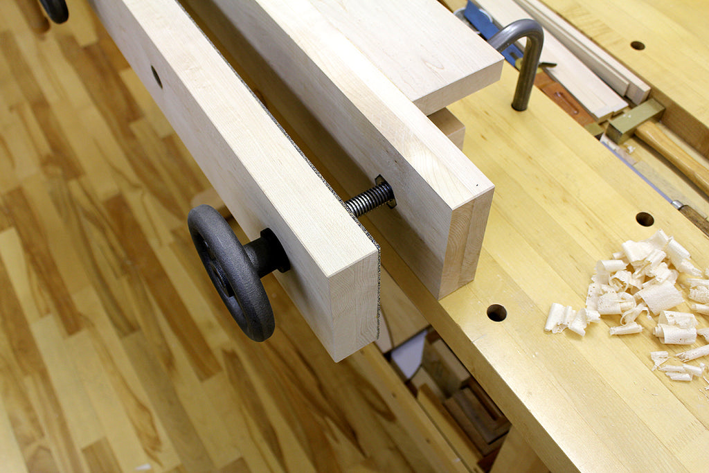 Moxon vise screw and handwheel detail
