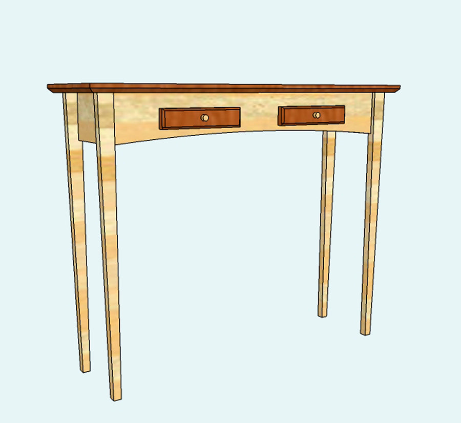 Hall Table - CAD Drawing