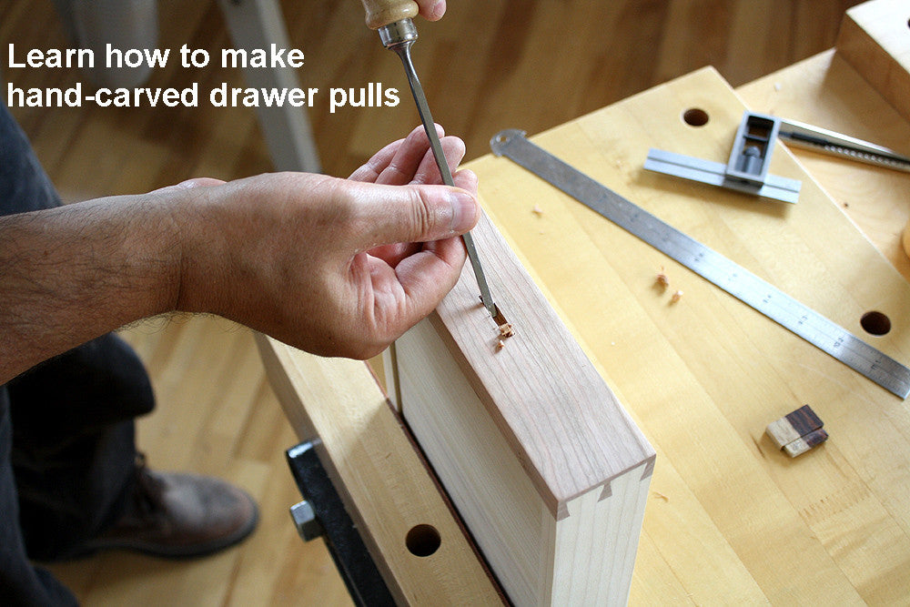 Creating mortise for drawer pull