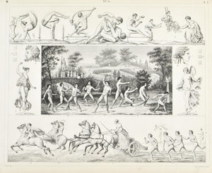 Greek Games Olympian Olympic Antique Print 1857