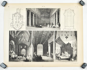 Church St Mary Bethlehem Jerusalem Architecture Antique Print 1857