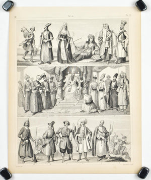 Middle East Culture and Dress Persians Antique Print 1857