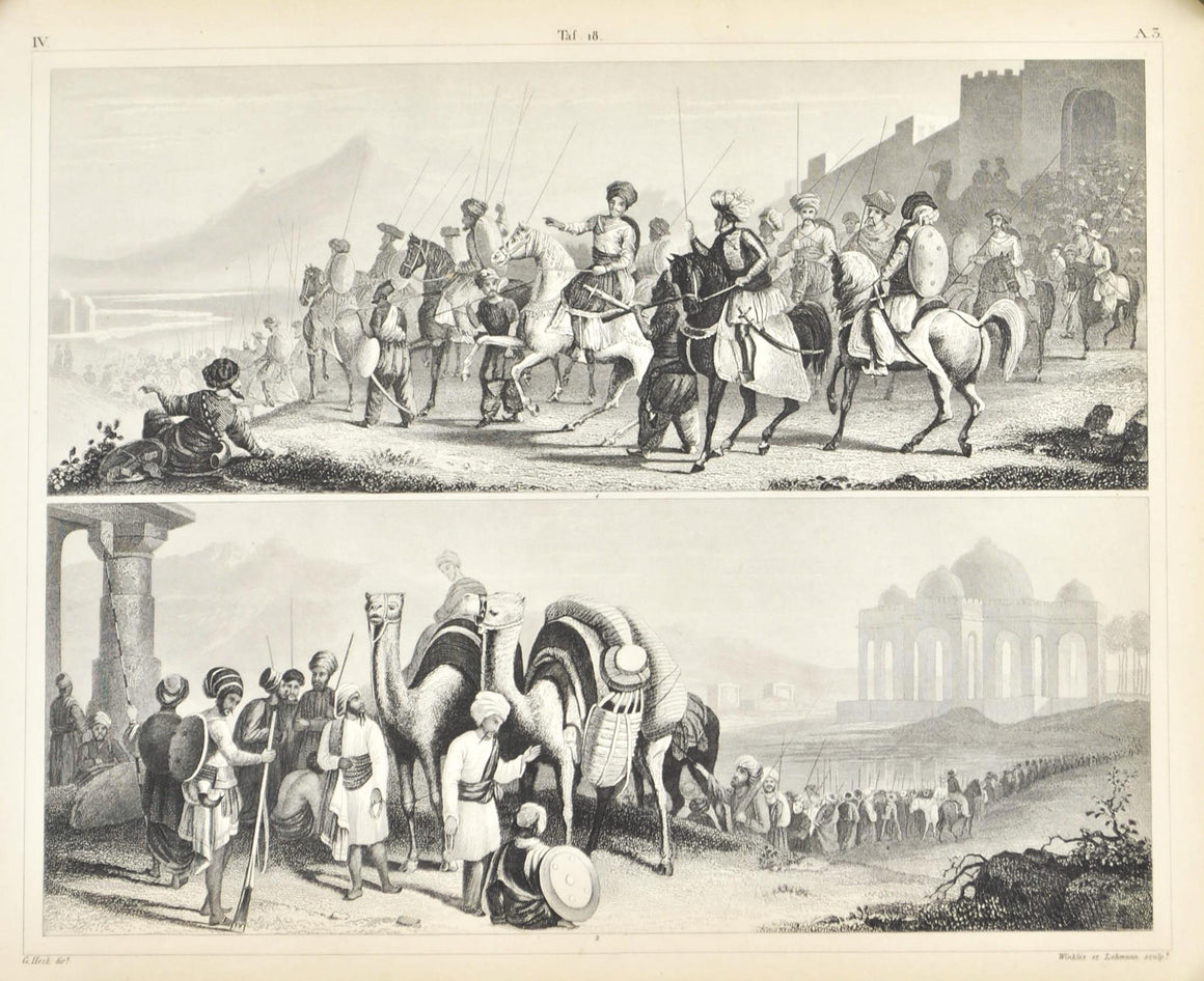 Rajah of Cutch English East Indies Antique Print 1857