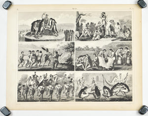Human Sacrifice Cannibalism Execution Antique Print 1857