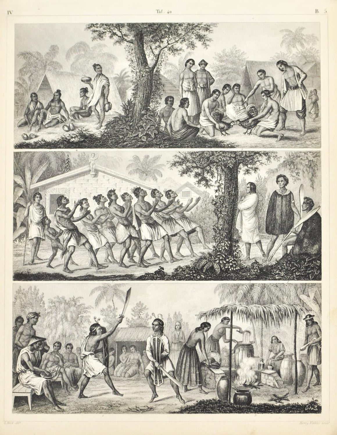 Booro Philippines Marian Caroline Islands Antique Print 1857
