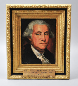 Fred Wilson - President George Washington - Signed Oil on Board - 1962