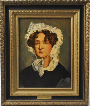 Fred Wilson - Martha Jefferson Randolph - Signed Oil on Board - 1962