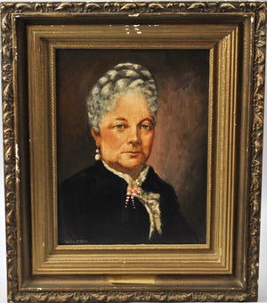 Fred Wilson - Caroline C. Fillmore - Signed Oil on Board - 1962