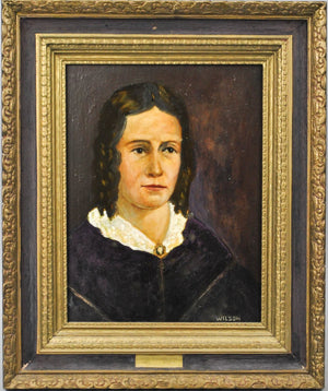 Fred Wilson -  First Lady Sarah Childress Polk - Signed Oil on Board - 1962
