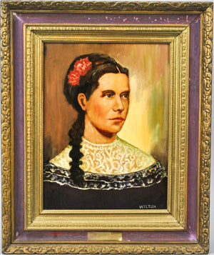 Fred Wilson - First Lady Martha Johnson Patterson - Signed Oil on Board - 1962