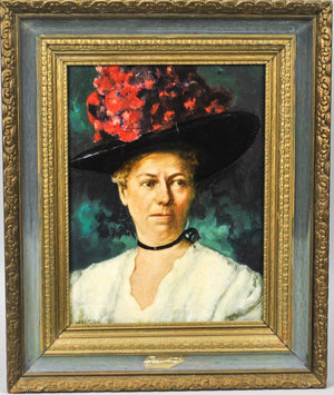 Fred Wilson - Helen Louise Taft - Signed Oil on Board - 1962