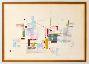 Hazton - Geometric Abstract Watercolor