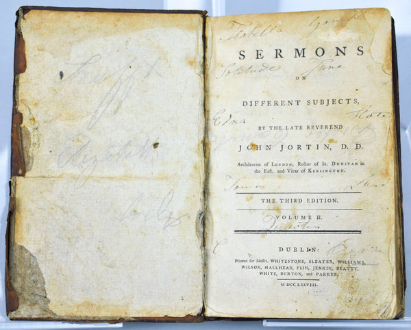 Sermons on Different Subjects by the Late Reverend John Jortin 1778