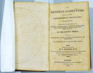 The General Gazetteer or Compendious Geographical Dictionary by R Brookes 1816