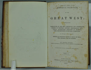 Historical Collections of the Great West by Henry Howe 1854