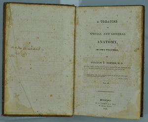 A Treatise on Special and General Anatomy Vol II by William Edmonds Horner 1826