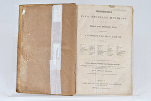 Mackenzie's Five Thousand Receipts by Colin Mackenzie 1829