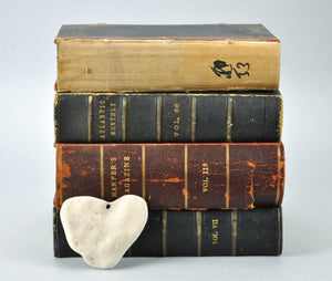 Antique Distressed Leather Book Bundle Set, Shelf Decor, Home Accents Design A