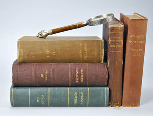 Brown, Green and Red Book Bundle Set, Shelf Decor, Historic Accents Design