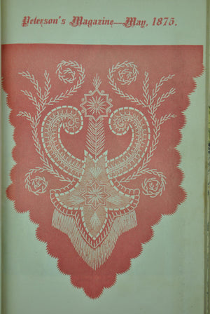 Bound Peterson's Magazine 1875 Plates Patterns Women's Interest