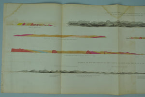 1852 Outline of the Hills on Grand Portages of Pigeon River - David Dale Owen