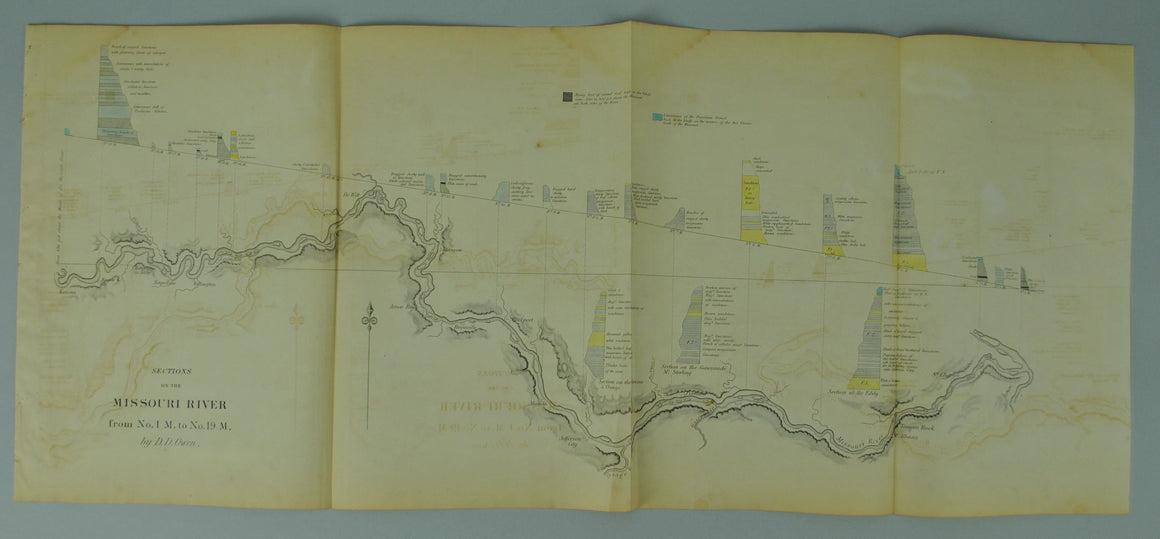 1852 Sections on the Missouri River - David Dale Owen