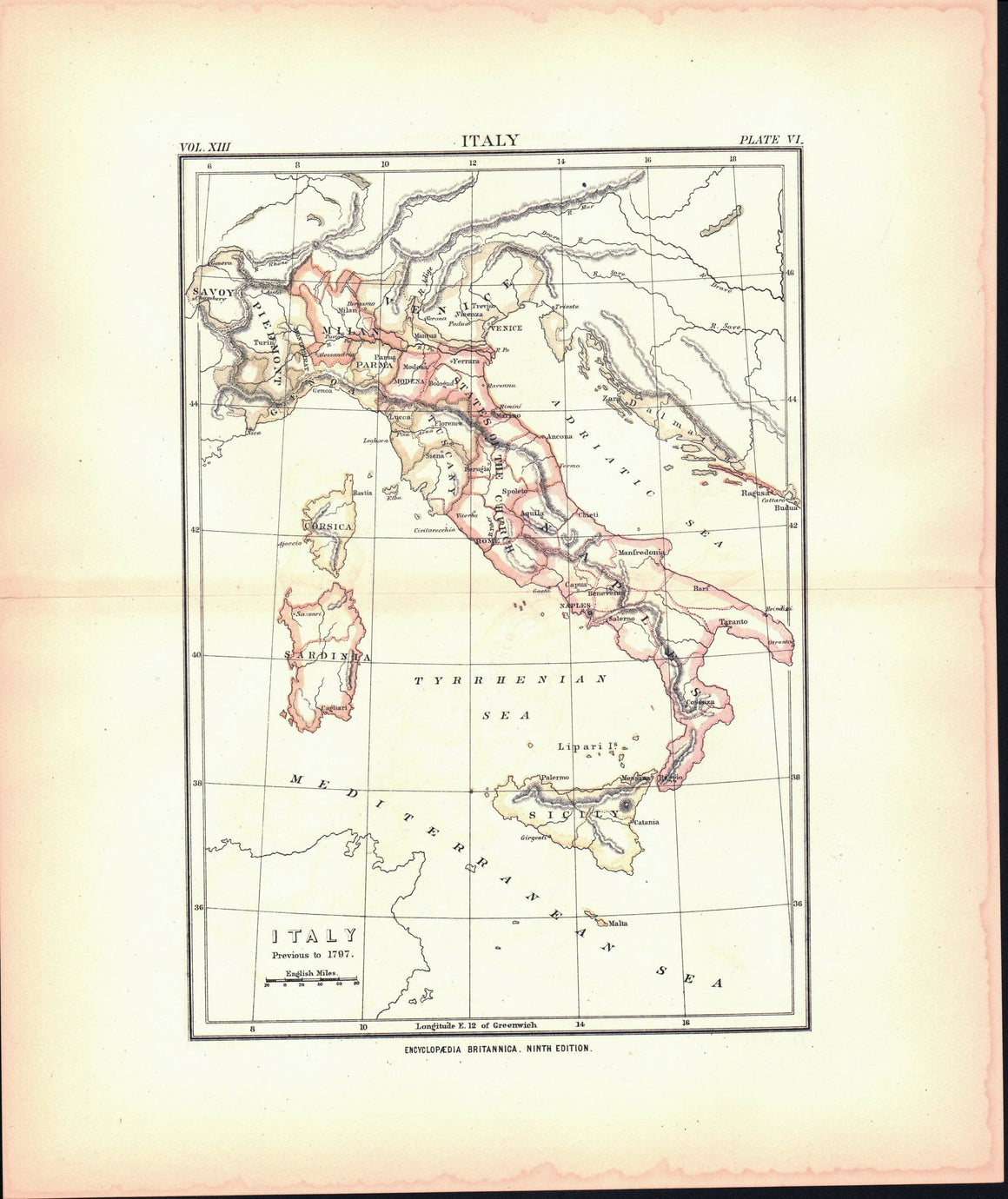 1881 Italy Previous to 1797 - Britannica