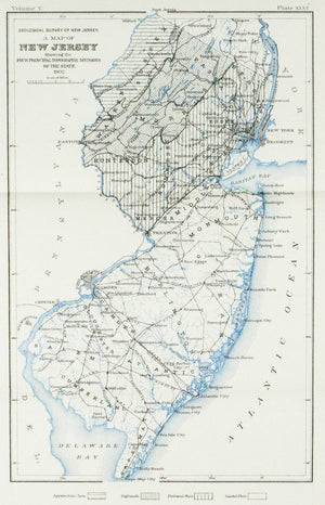 1902 Map of Eskers Near Ramseys, Bergen County