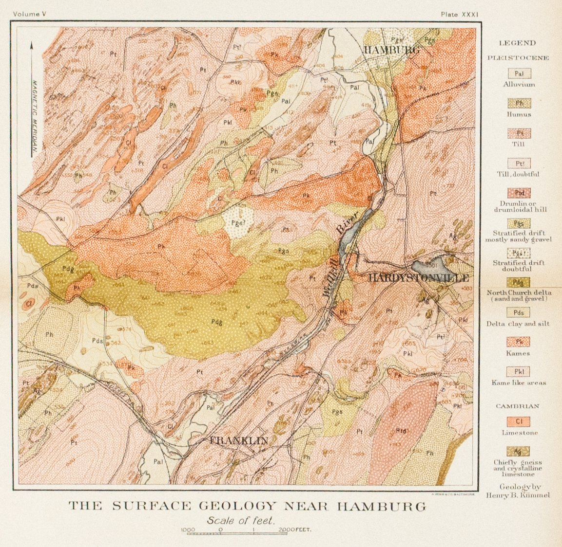 1902 The Surface Geology Near Hamburg