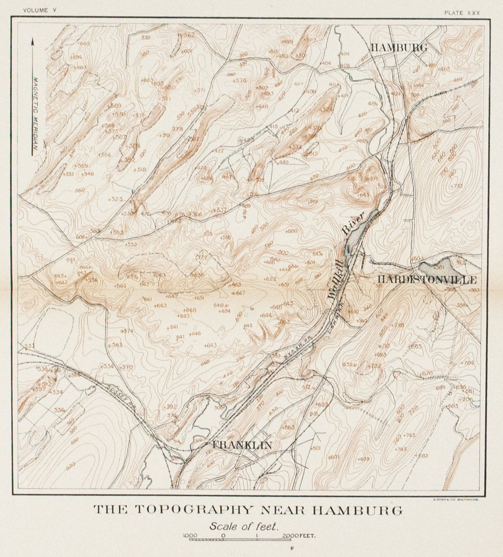 1902 The Topography Near Hamburg