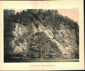 Chikis Anticlinal View Lancaster Co Pennsylvania Antique Print 1880