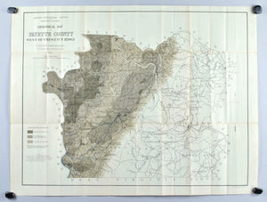 Fayette County Pennsylvania Antique Geological Map 1877