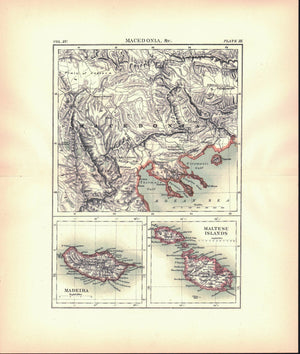 1883 Macedonia &c, Madeira, Maltese Islands - Britannica