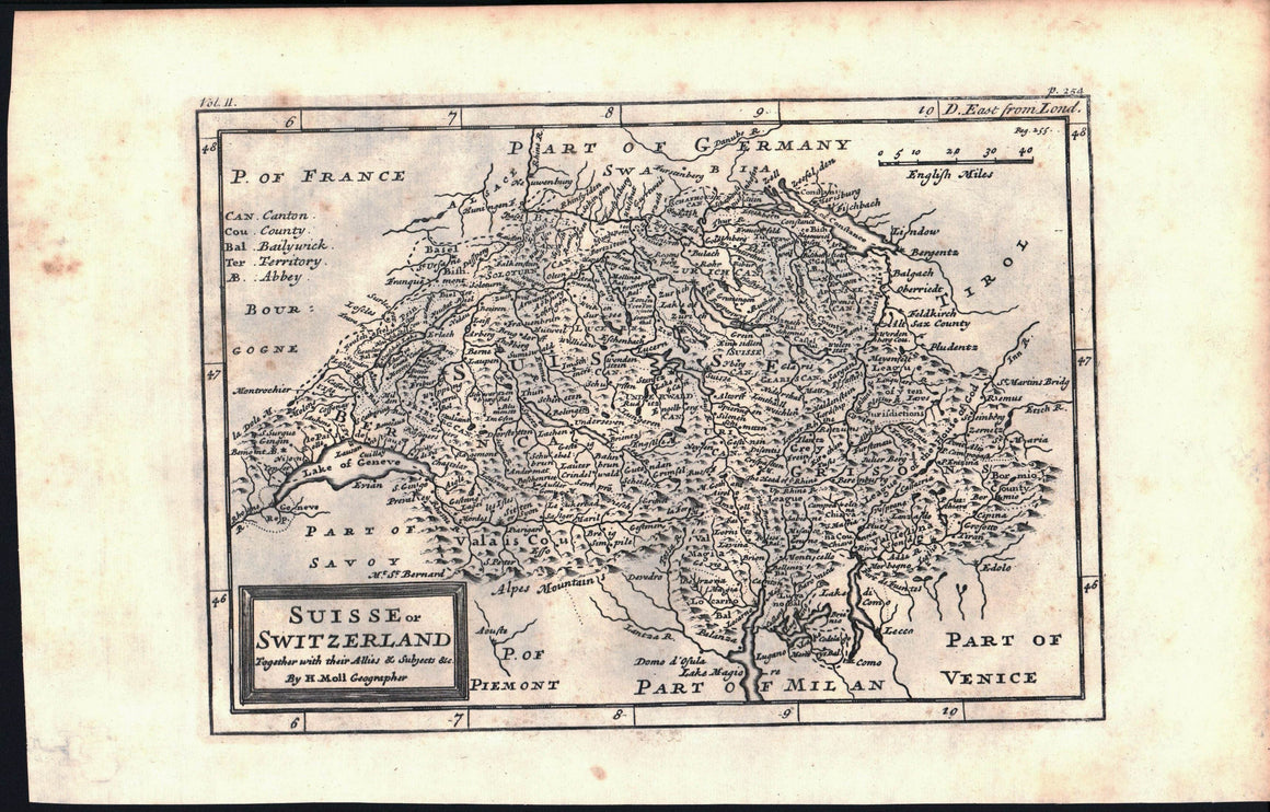 1735 Suisse or Switzerland - Moll