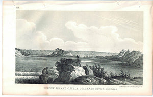Leroux Island Little Colorado River near camp 4 Pueblo de Zuni 1853 Litho Print