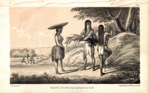 Mohave Indians Big Colorado River New Mexico 1853 American Indian Litho Print