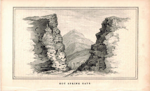 Hot Spring Gate 1845 Antique Litho Print by E. Weber & Co Baltimore