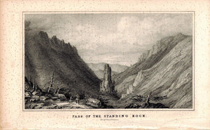 Pass Of The Standing Rock 1845 Antique Litho Print by E. Weber & Co Baltimore