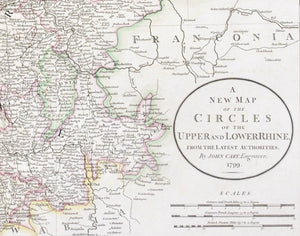 1808 A New Map of the Circles of The Upper and Lower Rhine - Cary